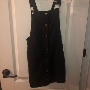 Super cute black overall dress for sale!